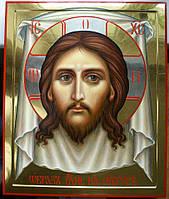 """Золочение сусальным золотом икон Иисуса Христа """"Нерукотворный образ""""."""