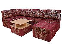 """Угловой диван """"Квадро"""" 41 + пуфик (кровать).Вика"""