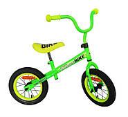 Велобег детский 12 дюймов колёса Extreme Balance Bike салатовый (BB001)