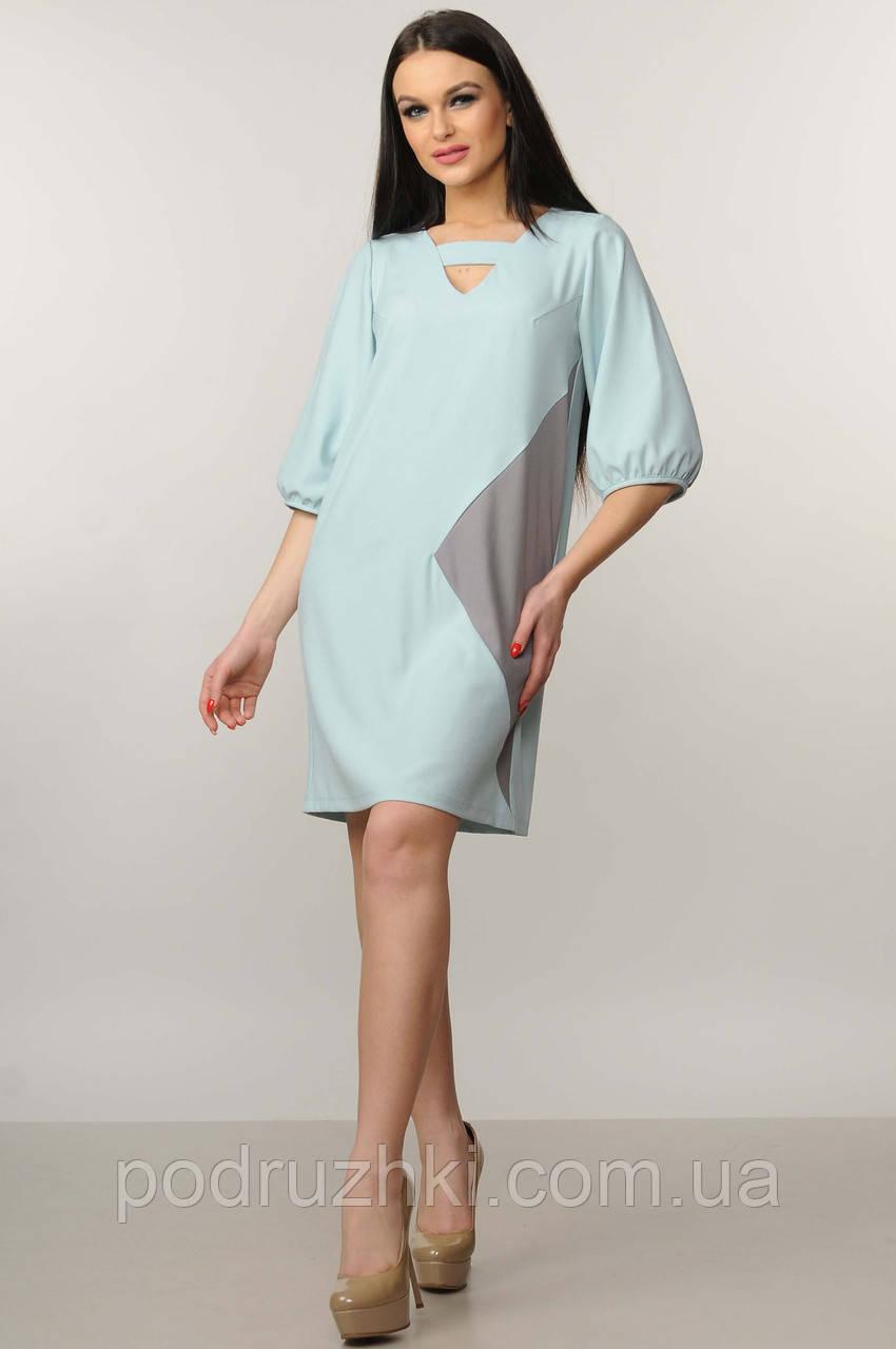 6a1e8afa2bd9c90 Женское красивое платье-трапеция свободного силуэта - Интернет-магазин