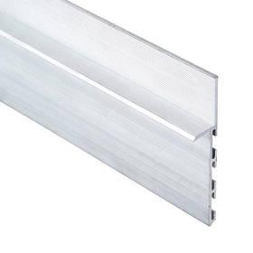 Скрытый плинтус 15*80*3000 мм. алюминий анодированный, Серебро