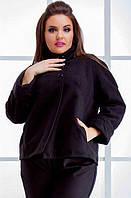 Пальто черное,короткое,кашемир,деми рр.48-54   32861