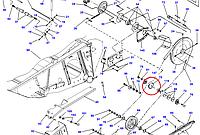 Звёздочка натяжная D28285473 Massey Ferguson