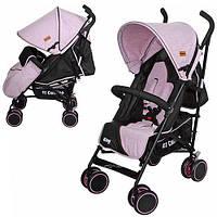 Детская прогулочная коляска-трость El Camino KING M 3427-8 розовая