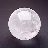 Шар сувенир из натурального камня Горный Хрусталь d-7см