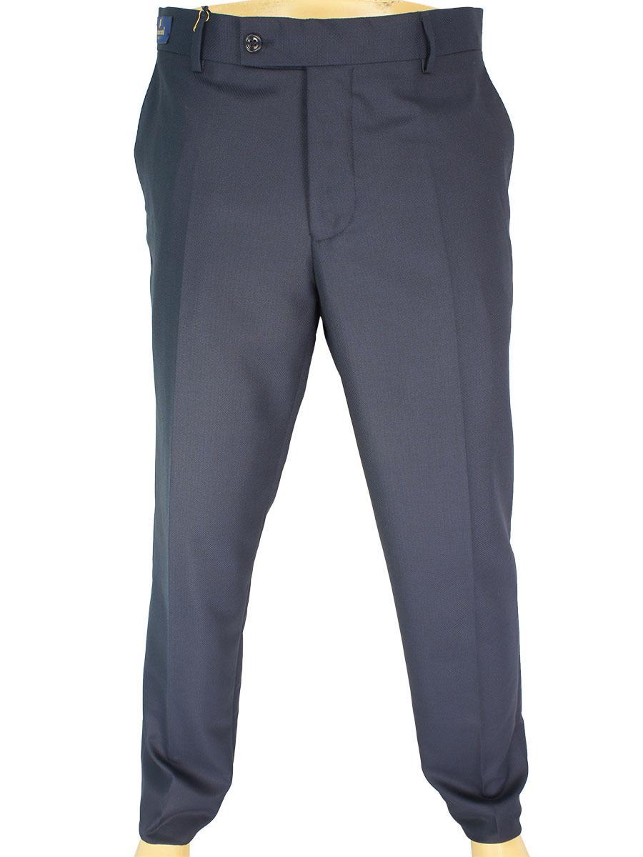 Темно-синие мужские классические брюки Monzeratti G-6 Classic indigo struct