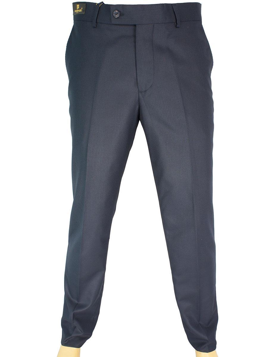 Турецкие мужские брюки Monzeratti G-6 Classic dark blue struct темно-синего цвета