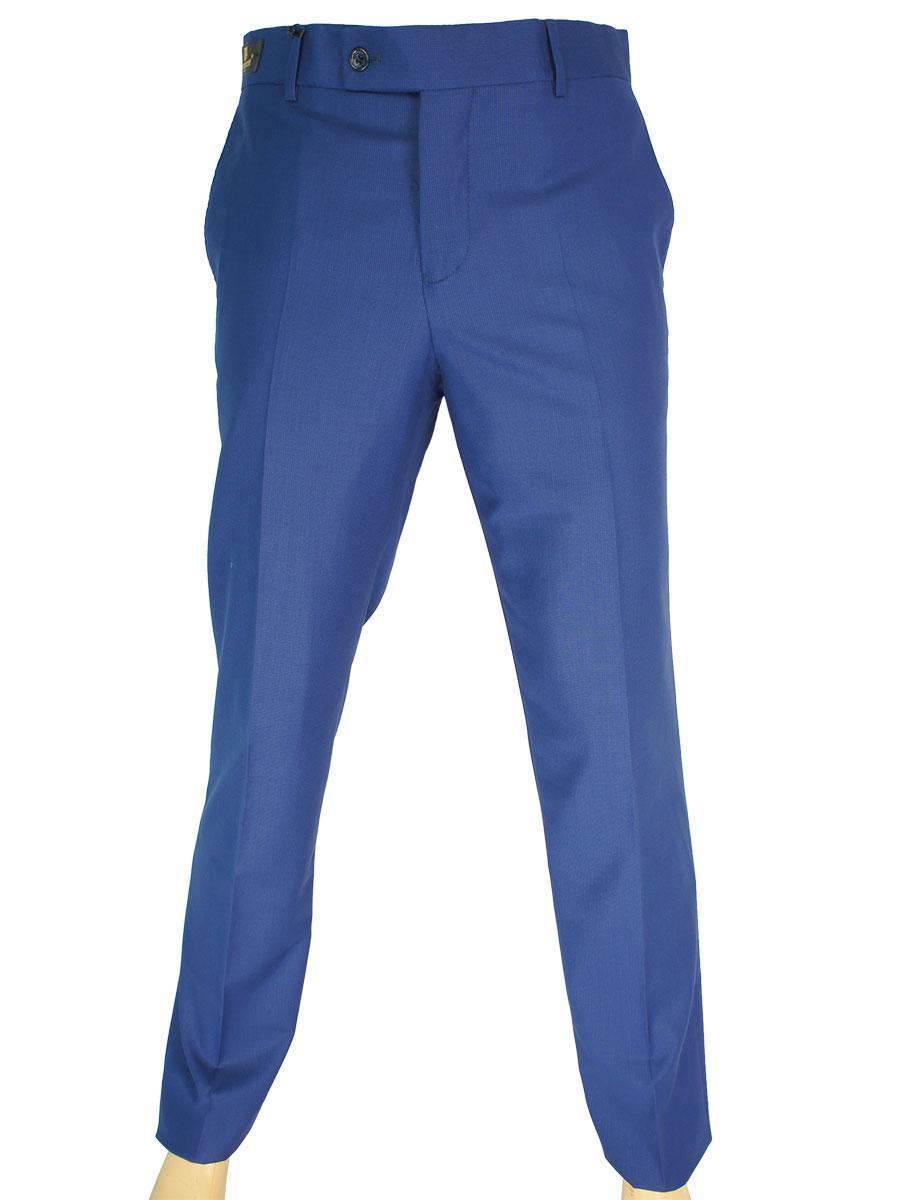 Блакитні чоловічі класичні брюки Monzeratti G-6 Classic blue cell