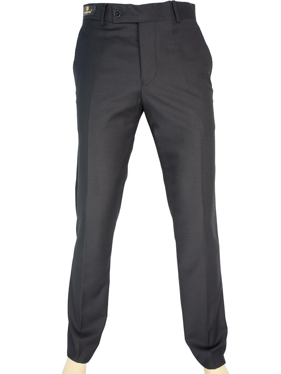 Черные мужские классические брюки Monzeratti 0873 black