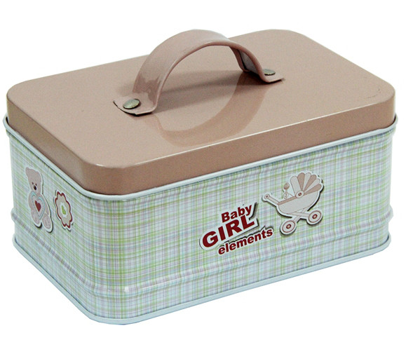 Коробка с ручкой на крышке Шкатулка Наследница, 250г ( емкость для сыпучих ) 12х8х6см