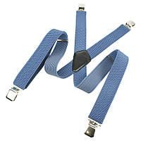 Светло-синие мужские подтяжки Top Gal 40-X indigo