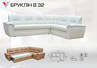 """Угловой диван """"Бруклин В"""" 32 раскладной.Вика"""