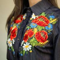 Блузки,Сорочки,Туніки з вишивкою