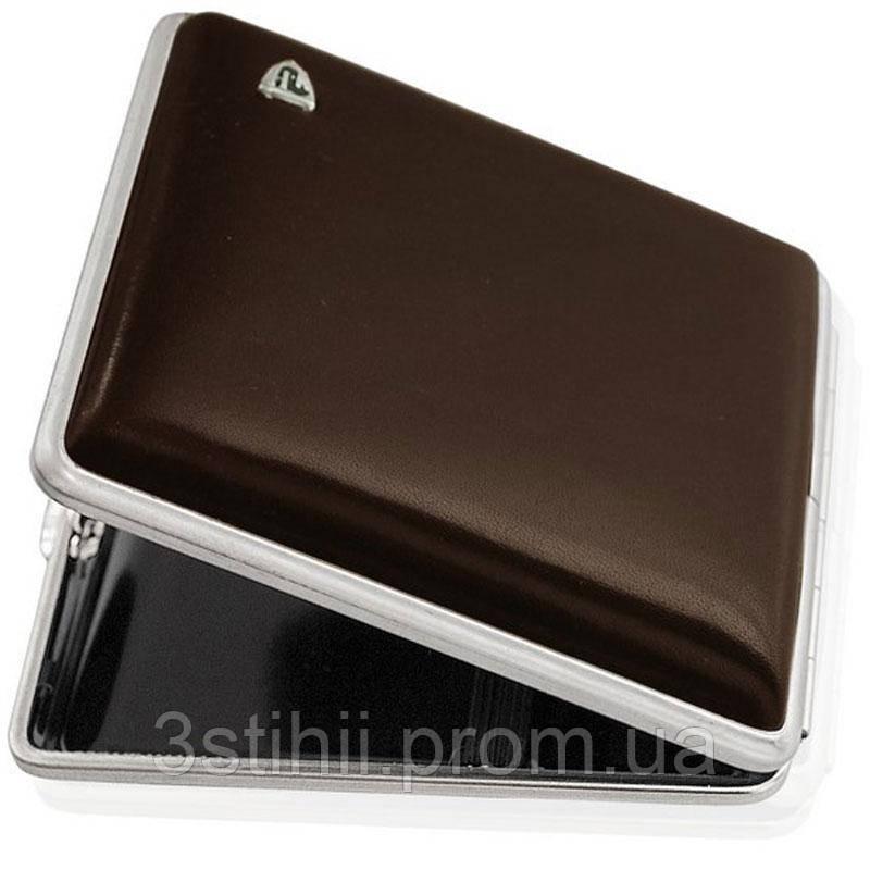 Портсигар VH 901229 для 18 KS/24 слим сигарет, кожа гладкая