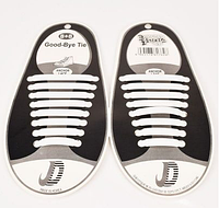 Шнурки силиконовые Good-Bye Tie белые (8+8)