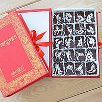 "Набор конфет ""Камасутра"" с фундуком, красная, классическое сырье. Размер: 190х131х36мм, вес 280г"
