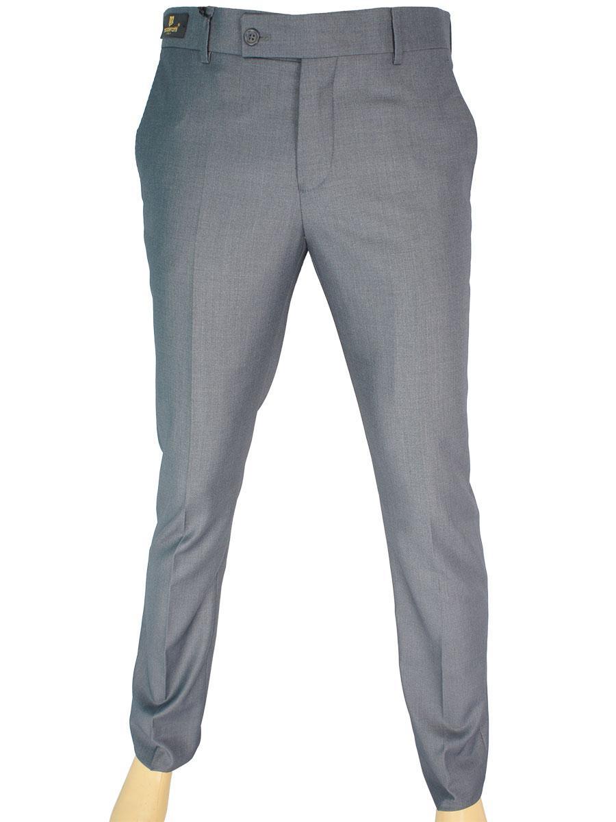 Завужені чоловічі класичні брюки Monzeratti Slim grey сірого кольору