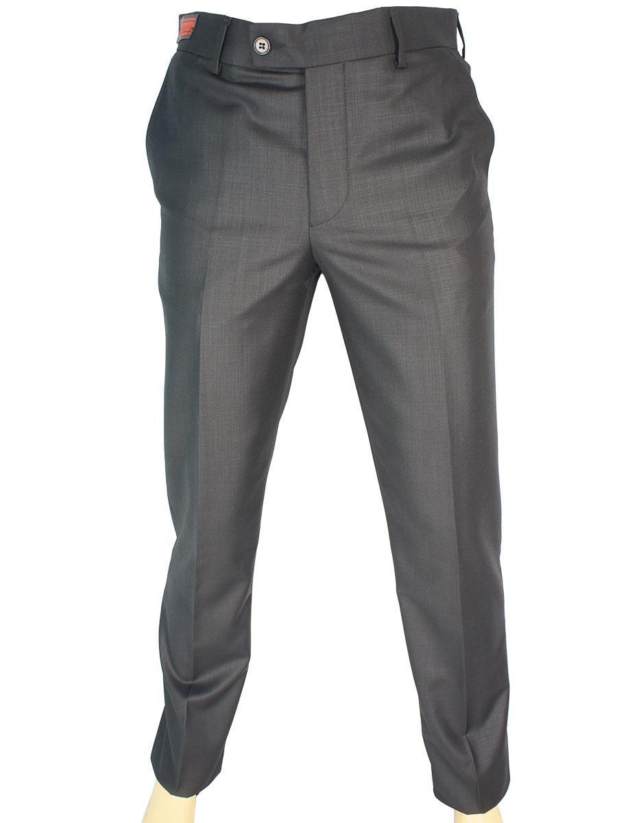 Однотонні чоловічі класичні брюки Monzeratti 0679 black чорного кольору