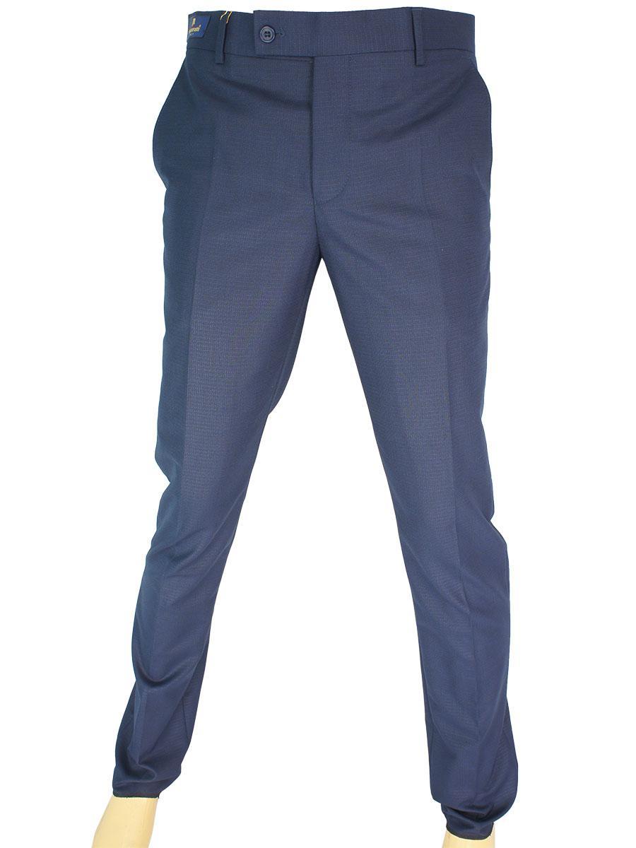 Турецькі чоловічі брюки Monzeratti Slim indigo cell в синьому кольорі