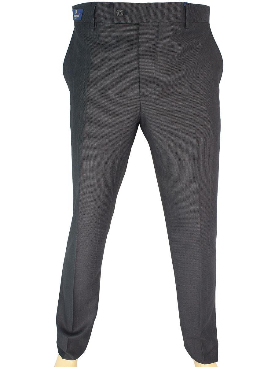 Класичні чоловічі брюки Monzeratti Slim black cell сірого кольору