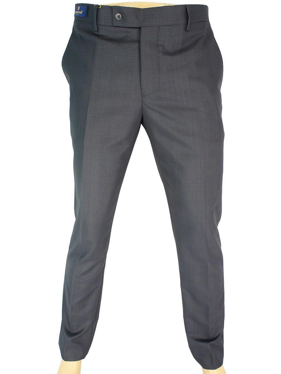 Чоловічі класичні брюки Monzeratti Slim dark grey cell сірого кольору