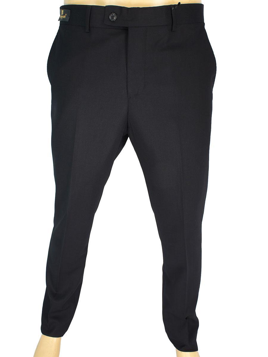 Турецькі чоловічі брюки Monzeratti 0873 black struct чорного кольору