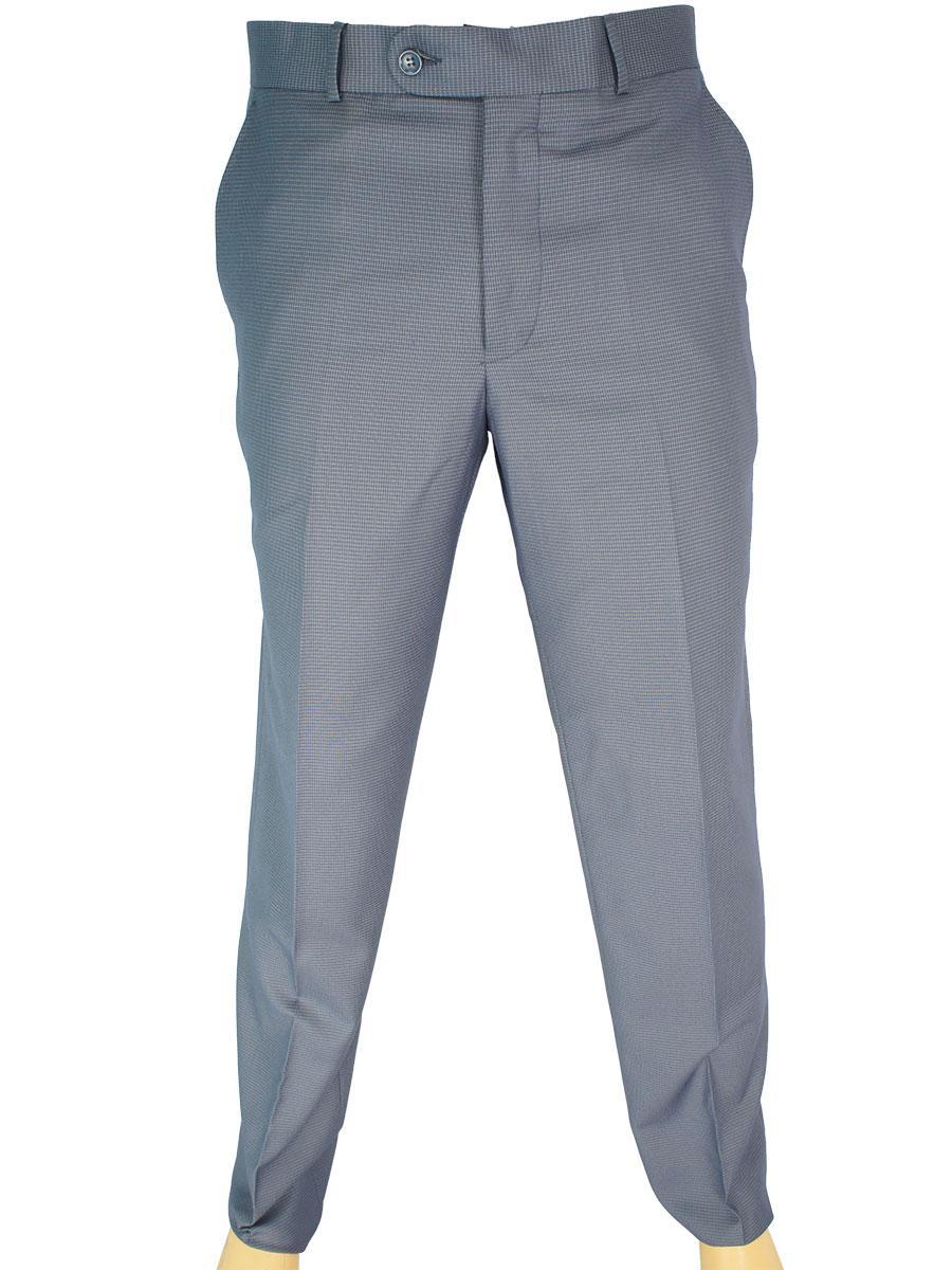 Класичні чоловічі брюки Monzeratti 0679 blue cell в блакитному кольорі