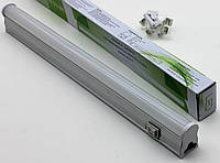 Светодиодный линейный Led светильник Т5 300мм 6500К с кнопкой на корпусе