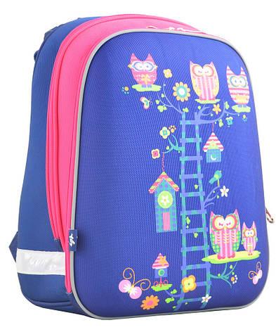 Рюкзак YES 554495 H-12 каркасный Owl blue, фото 2