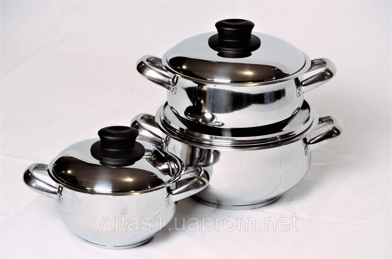 Набор посуды с крышкой из нержавеющей стали 6 един. Hascevher