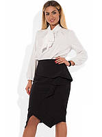 Деловой костюм двойка из блузы и юбки размеры от XL 4159