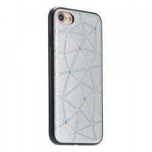Чехол  для iPhone 7/8 со стразами Coteetci Star серебряный