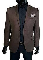 Мужской пиджак коричневый 8308