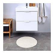БАДАРЕН Килимок для ванної, білий, круглий, 55 см 70311616 IKEA, ІКЕА, BADAREN