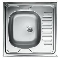 Кухонна Накладна мийка 60х60см права/ліва 0,4мм