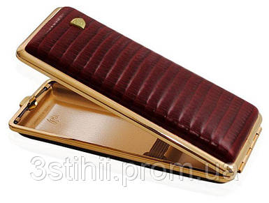 Портсигар VH 904138 для 8 KS/12 Super KS сигарет кожа (Eid) Бордовый