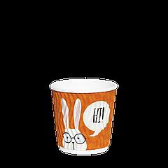 """Стакан гофрированный  110мл.""""Т"""" ЗАЙЦЫ 20шт (40/800)"""