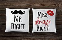 Парные декоративные подушки
