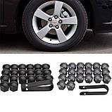 Защитные пластиковые крышки на колесные гайки 17 мм серые, фото 9