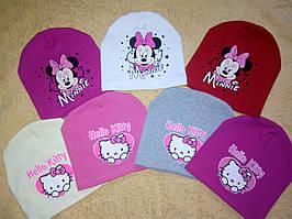 Детские весенние шапочки Хелоу Китти и Минни Маус для девочки