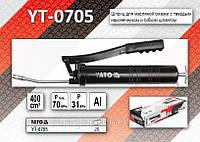 Шприц для масляной смазки 400см³, Al, Pbar-310/700max, YATO YT-0705