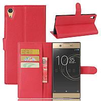 Чехол IETP для Sony Xperia XA1 Ultra / G3212 / G3221 / G3223 / G3226 книжка кожа PU красный
