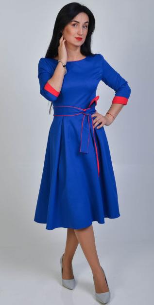 """Платье-миди  """"Кейси"""" размеры 44,52"""