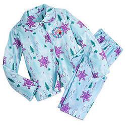 Фланелевая пижама для девочки Холодное сердце Дисней 7/8 лет / Frozen Flannel PJ Girls gift set Disney