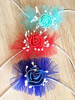 Браслет с цветами  под бальное платье