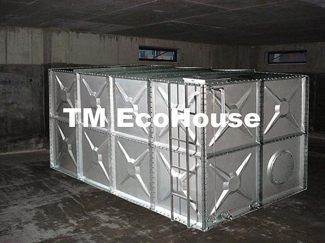 Сборные модульные секционные емкости для пожарного и питьевого запаса воды 100м3