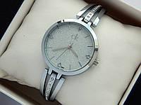 Женские часы Calvin Klein с сияющим циферблатом, серебро, на тонком браслете, фото 1