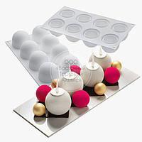 Форма силіконова для муссовых тортів - Півсфери - 30х17,5х5 см