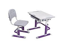 Растущая парта трансформер и стульчик  Cubby Lupin Purple для дома и школы.