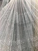 Тюль органза белая 0-181, фото 3